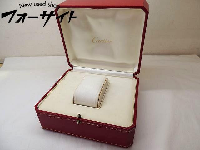 4: 難有り Cartier カルティエ■レッド 純正 時計 ボックス 空箱□30G