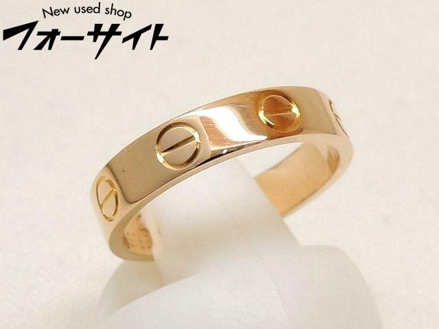 新品同様 7号(47) Cartier カルティエ■K18 PG ピンクゴールド ミニ ラブリング 指輪□30G