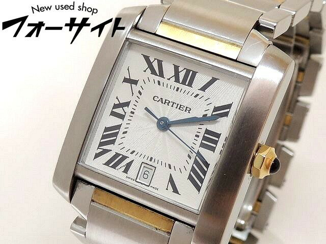 Cartier カルティエ■W51005Q4 タンクフランセーズ LM メンズ 時計 自動巻き・オートマティック コンビ□30H