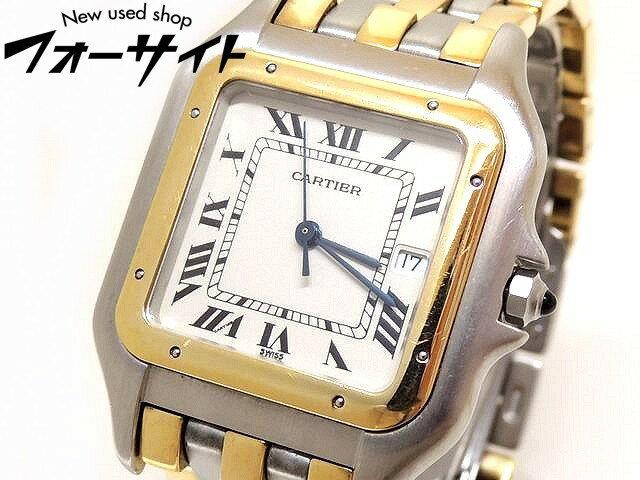 【3F】訳あり ジャンク品 Cartier カルティエ■パンテール LM メンズ 時計 3ロウ コンビ□クォーツ 30H
