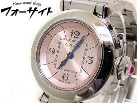 Cartier カルティエ■W3140008 ミス パシャ ステンレス ピンク 文字盤 クォーツ レディース 時計□30H