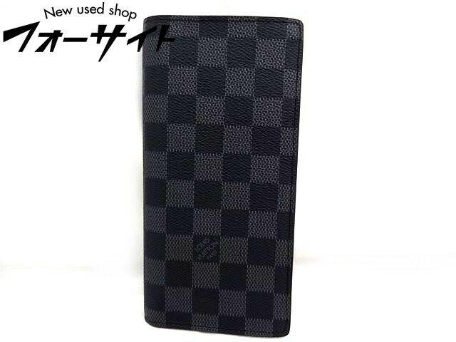 Louis Vuitton ヴィトン■N62665 ポルトフォイユ ブラザ ダミエ グラフィット 2つ折り 財布□30H