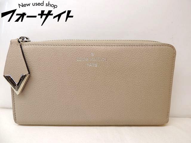 美品 Louis Vuitton ヴィトン■M60147 ポルトフォイユ・コメット ガレ グレージュ L字ファスナー 財布□30H