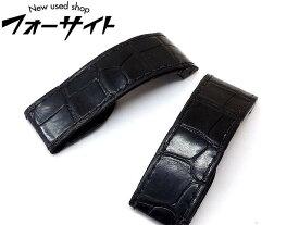 Cartier カルティエ■サントス100 LM 用 マット ブラック クロコ ベルト 時計 パーツ 正規品□31B