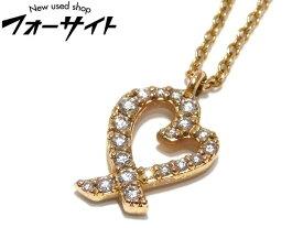 新品同様 TIFFANY ティファニー☆パロマピカソ ラビングハート K18ローズゴールド×ダイヤモンド ネックレス▼レディース 31A