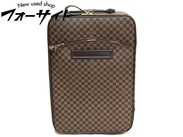 ※同梱不可※訳あり品 LOUIS VUITTON ヴィトン◆N23295 ペガス65 ダミエ キャリーバッグ▼スーツケース トラベル バッグ 31C
