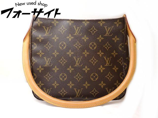 Louis Vuitton ヴィトン■M51146 ルーピング MM モノグラム ショルダーバッグ□31B