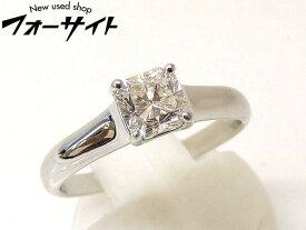 12.5号 新品同様 Tiffany ティファニー■プラチナ Pt950 ダイヤ 0.64ct G-VVS2-G ルシダ リング 指輪□1E