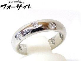 8号 新品同様 Tiffany ティファニー■プラチナ Pt950 ダイヤ ドッツ リング 指輪□1F