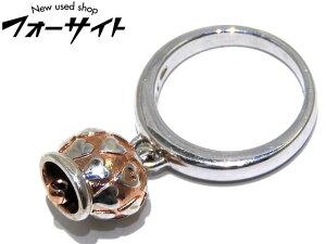 まだ美品 Chantecler シャンテクレール☆#12.5 クラウン チャーム リング▼指輪 シルバー925 レディース ハート 1J
