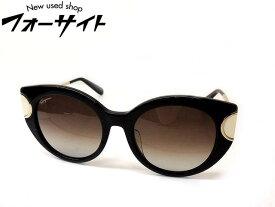 美品 Ferragamo フェラガモ■SF840SA アジアンフィット ブラック×ゴールド フレーム ブラウン グラデーション レンズ サングラス 眼鏡□2B