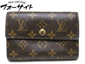 LOUIS VUITTON ヴィトン☆M60047 ポルトフォイユ・アレクサンドラ 3つ折り 財布 モノグラム▼パスケース付き 2B