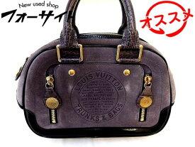 ヴィトン ハンドバッグ ■ M95239 スタンプバッグ PM ボーリング クルーズライン グレー スエード バッグ Louis Vuitton □2K