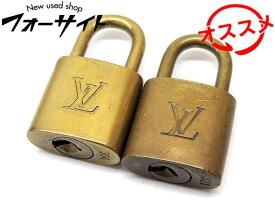 4番 Louis Vuitton ヴィトン ■ 鍵無し パドロック 2個セット (304/321) □ 南京錠 3B
