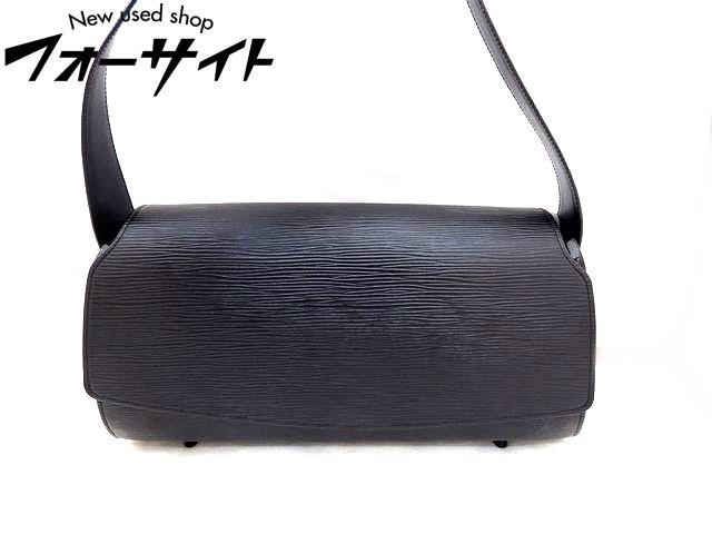 Louis Vuitton ヴィトン■M52172 ノクターン GM エピ ノワール ブラック ショルダーバッグ□30F
