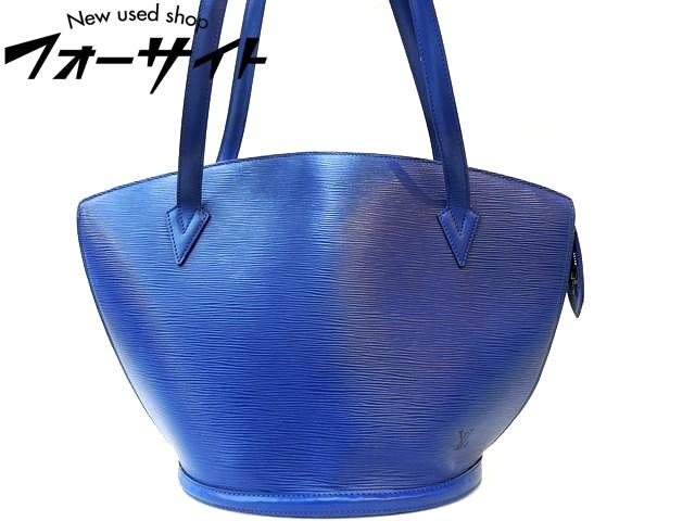 Louis Vuitton ヴィトン☆M52265 サンジャック ショッピング エピ ブルー ショルダーバッグ□30G