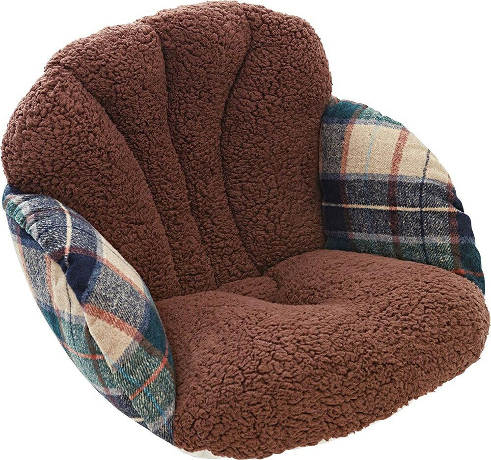 【送料無料】コジット(COGIT)腰と背中を包む座れる毛布ツイードダークブラウン