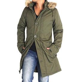 モッズコート メンズ 中綿 ロングコート ミリタリーコート メンズ モッズ コート ファー 裏ボア 暖 防寒着 M L LL fgh3555