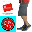 大きいサイズ メンズ ハーフパンツ カーゴパンツ ショートパンツ ショーツ 父の日 ギフト ヘインズ HANES イージーパンツ 太め ゆったり 夏 6425