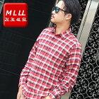 ネルシャツメンズ大きいサイズ【MLLL2L3L4L5L】綿100%長袖ゆったり起毛チェックボーダー防寒着abe851