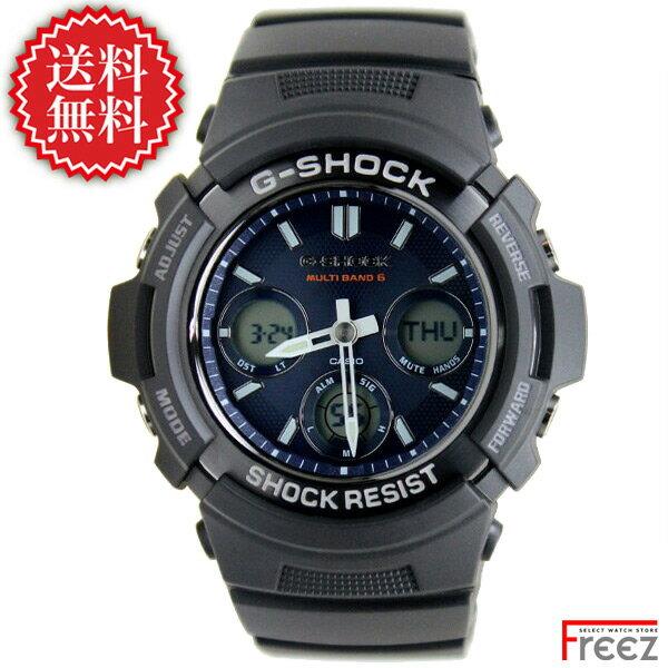 【エントリーでポイント5倍!21日1時59分まで】G-SHOCK デジタル×アナログ ジーショック 電波ソーラー メンズ 腕時計 AWG-M100SB-2A【あす楽】【送料無料】