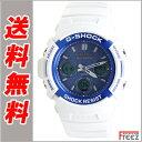 カシオ G-SHOCK G-ショック ジーショック 電波 ホワイト×ライトブルー ソーラー 電波時計 AWG-M100SWB-7A【あす楽】…