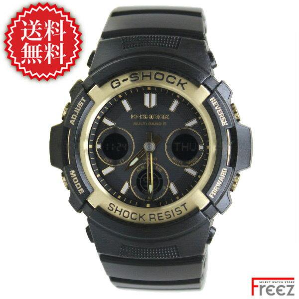 カシオ G-SHOCK ジーショック 電波 ソーラー Black & Gold Series(ブラック&ゴールドシリーズ)AWG-M100SBG-1A【あす楽】【送料無料】