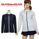 ラッシュガード 女の子 長袖 OLIVE des OLIVE(オリーブデオリーブ)30850454 スクール水着対応 140 150 160 170cm ジッ…