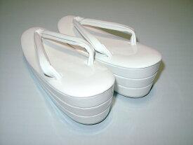 打掛 白無垢用 白 草履 三段 M寸 【高さ7.0センチ 大きさ23〜23.5センチ】【化粧箱入り】