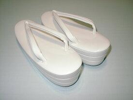 打掛 白無垢用 白 草履 三段 LL寸 【高さ5.5センチ 大きさ25〜25.5センチ】【化粧箱入り】