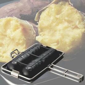 おすすめ ドウシシャ 焼き芋プレート ガス火専用 ブラック レシピ付き LivE おすすめ