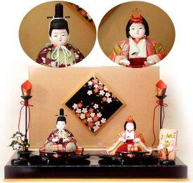 おすすめ 木目込み人形 喜久絵作 桜華雛NO5(おうかびな)紫 おすすめ
