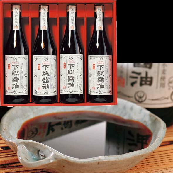 下総醤油 4本セット(千葉)(415ah60)メーカー直送品