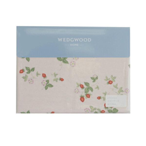 東京西川 ウェッジウッド 枕カバー 65×45 ピンク 綿100 WW7661 ワイルドストロベリー 日本製 PJ07200649