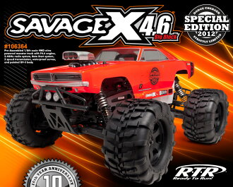 106364 *4.6 HPI Savage special edition 2.4Gh