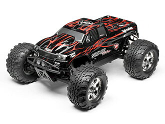 HPI 102219-savage FLUX HP GT-2 paint body (black/gray/red)