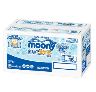 Mooney wipes soft flushable or refill material 50 x 16