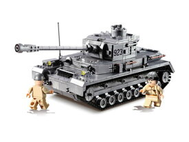 【AFM ミリタリーブロックシリーズ/パンツァ】AFM ドイツ軍 4号戦車Sd.Kfz.161/2 1193Blocks◆タンク/ジャーマングレー/LEGO互換