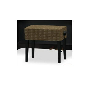 CD-602DB 電子ピアノ椅子カバー 犬鍵盤柄 ダークブラウン  間口50cm未満