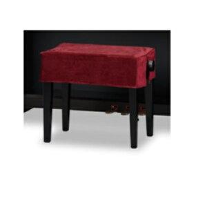 CD-VE 電子ピアノ椅子カバー ベロア ワインレッド 間口 90~100cm未満