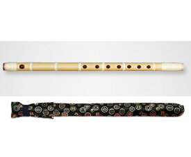 篠笛 獅子田 竹峰 彫込 半巻き 五本調子 大塚竹管楽器 七つ穴 六つ穴