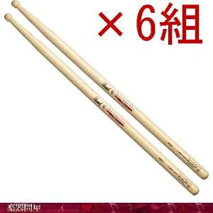 ドラムスティック ヒッコリー 103LH クリアヘビーラッカー 6組 パール Barrel樽型チップ Slim-Short Body