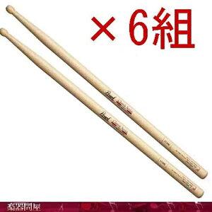 ドラムスティック ヒッコリー 111HC クリアラッカー 6組 パール Oval卵型チップ Fat−Long Body