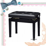【信頼の吉澤】安心価格!ピアノ椅子CB-18S黒