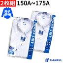 スクールシャツ 男子 長袖 150A〜175A 2枚組 カンコー ルームドライシャツ 部屋干し 速乾 形態安定 透け防止 UVカット…