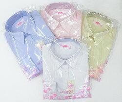 女子用制服スクールブラウスBESTELLA(ビー・ステラ)形態安定スリムシルエットシャツS〜LL(ホワイト・サックス・ピンク・イエロー)