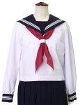 富士ヨット夏セーラー服白身頃紺衿・白三本線6A〜17A(普通体型)