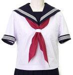 富士ヨット夏セーラー服白身頃紺衿・白三本線一番大きいサイズ18B