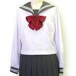 セーラー服白(グレー衿・長袖)KURI-ORI(クリオリ)155A〜175A(普通体型)