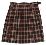大きいサイズ(W75〜85)チェック柄制服スクールスカート定番ワインベージュチェック5339W